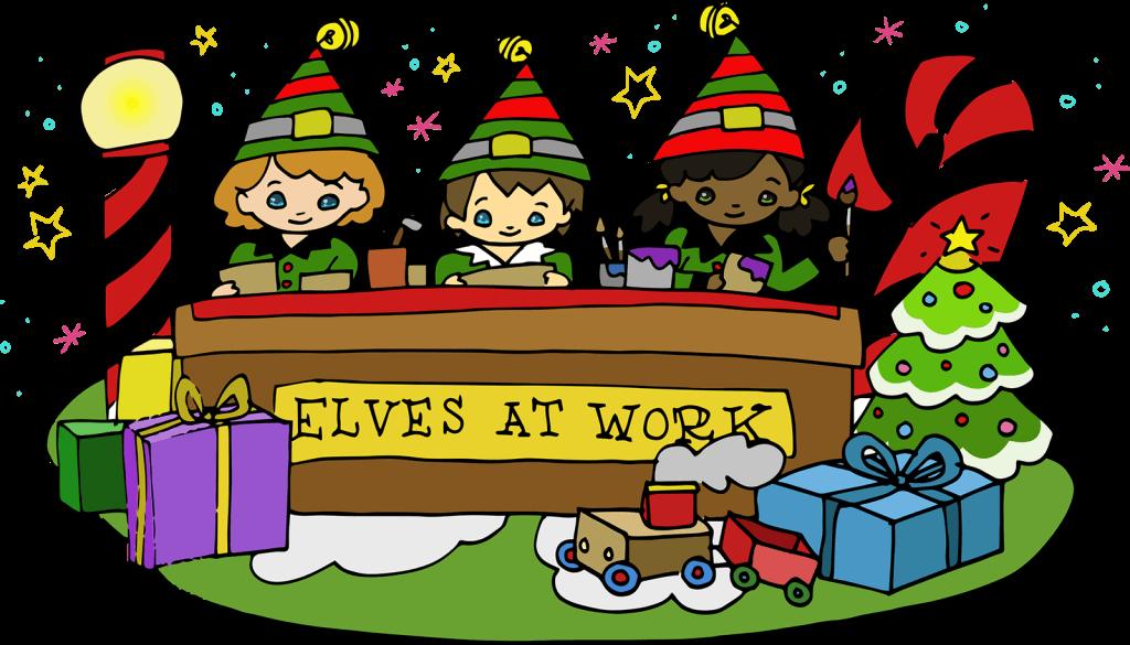 elves workshop winter wonderland