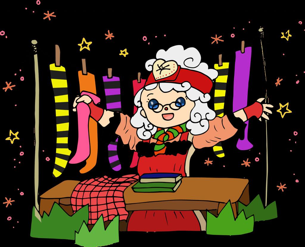 Mrs Christmas Illustration